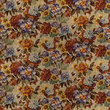 Red/Plum Botanical Decorator Fabric by Mulberry Home