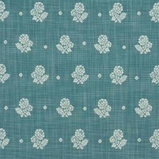 Blue Botanical Decorator Fabric by Mulberry Home