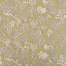 Gold Botanical Decorator Fabric by Mulberry Home