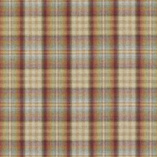 Red/Stone Plaid Decorator Fabric by Mulberry Home
