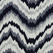 Noir Flamestitch Decorator Fabric by Groundworks