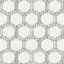 Grey Geometric Decorator Fabric by JF