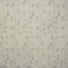White/Taupe Botanical Decorator Fabric by Groundworks