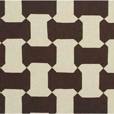 Sepia Geometric Decorator Fabric by Groundworks