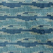 Aqua/Blue Contemporary Decorator Fabric by Groundworks