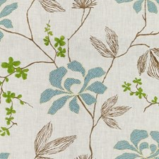 Kelly Embroidery Decorator Fabric by Groundworks