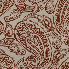 Clay Paisley Decorator Fabric by Groundworks