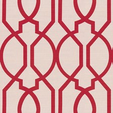 Raspberry Lattice Decorator Fabric by Groundworks