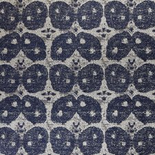 Midnight Blue Contemporary Decorator Fabric by Groundworks