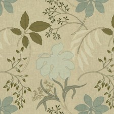 Mist/Grey Botanical Decorator Fabric by Groundworks