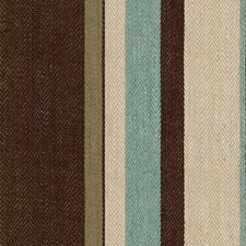 Aqua/Cocoa Stripes Decorator Fabric by Groundworks