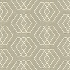 Ivory/Linen Geometric Decorator Fabric by Groundworks