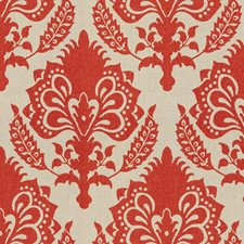 Tomato Damask Decorator Fabric by Groundworks