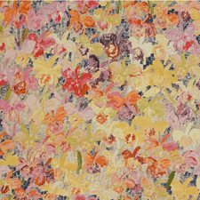 Pink/Yellow Print Decorator Fabric by Groundworks
