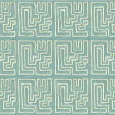 Robin's Egg Contemporary Decorator Fabric by Groundworks