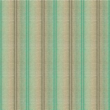 Aqua Stripes Decorator Fabric by Groundworks