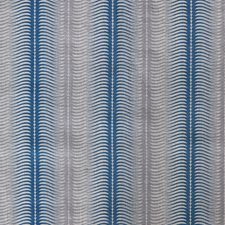 Cornflower Stripes Decorator Fabric by Groundworks