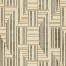 Grey/Beige Modern Decorator Fabric by Groundworks