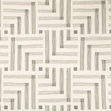 Chalk/Jet Modern Decorator Fabric by Groundworks