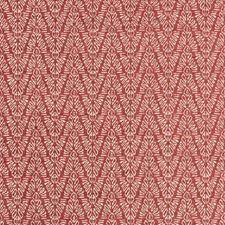 Cerise Herringbone Decorator Fabric by Groundworks