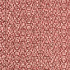 Cerise Herringbone Decorator Fabric by Groundworks
