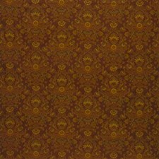 Brown/Yellow/Blue Damask Decorator Fabric by Kravet
