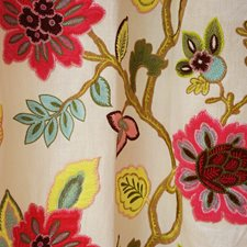 Multi/Pink Traditional Decorator Fabric by JF