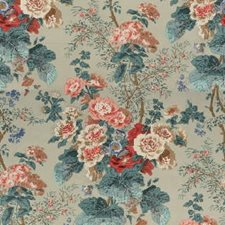 Green Print Decorator Fabric by G P & J Baker