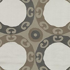 Black/gold Decorator Fabric by Highland Court