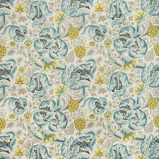 Seafoam Botanical Decorator Fabric by Kravet