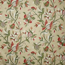 Red Traditional Decorator Fabric by Pindler