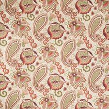 Ivory/Pink/Khaki Botanical Decorator Fabric by Kravet