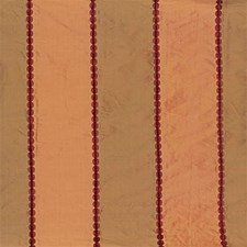 Red/Coral Stripes Decorator Fabric by G P & J Baker