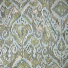 Aqua Chartreuse Decorator Fabric by Scalamandre