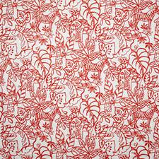 Coral Crewel Decorator Fabric by Pindler