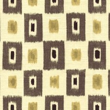 White/Black/Yellow Geometric Decorator Fabric by Kravet