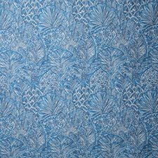 Cerulean Damask Decorator Fabric by Pindler