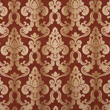 Burnt Orange Damask Decorator Fabric by Baker Lifestyle