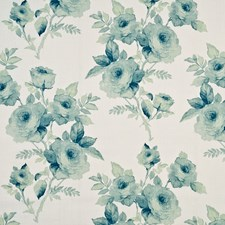 Pale Aqua Print Decorator Fabric by Baker Lifestyle