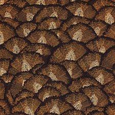 Orange/Brown/Silver Modern Decorator Fabric by Kravet