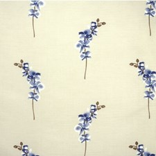 Blue Botanical Decorator Fabric by Parkertex