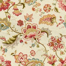 Burgundy/Red/Yellow Jacobeans Decorator Fabric by Kravet