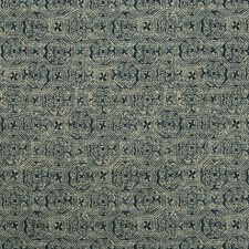 Indigo/Beige Ethnic Decorator Fabric by Kravet