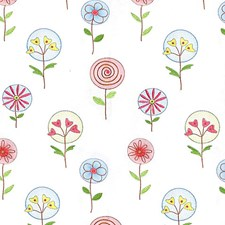 Blue/Coral Decorator Fabric by Scalamandre