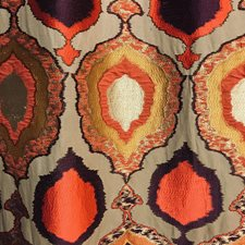 Brown/Burgundy/Red Traditional Decorator Fabric by JF