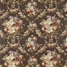 Brown/Multi Botanical Decorator Fabric by Kravet