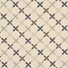 Smoke/Silver Lattice Decorator Fabric by Baker Lifestyle