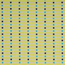 Turquoise/Lime/Indigo Decorator Fabric by Baker Lifestyle