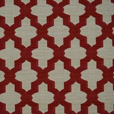 Burgundy/Red/Creme Traditional Decorator Fabric by JF