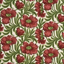 Red/Green Print Decorator Fabric by Baker Lifestyle